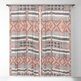 Ait Ouaouzguite South Morocco North African Rug Print Sheer Curtain