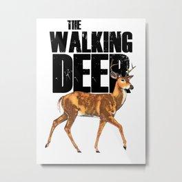 The Walking Deer Metal Print