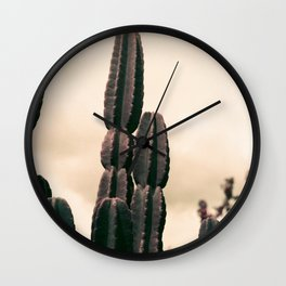 Cactus Towering Purple Chrome  Wall Clock
