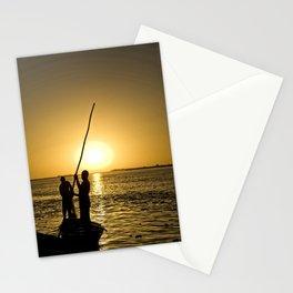 Niger river sunset - Mali, Africa Stationery Cards