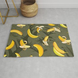 Banana & Leaves Pattern 3 Rug