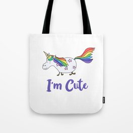 Ice Cream Unicorn - I'm Cute Tote Bag