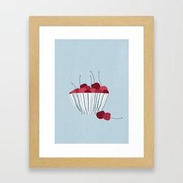 Cherry bowl Framed Art Print