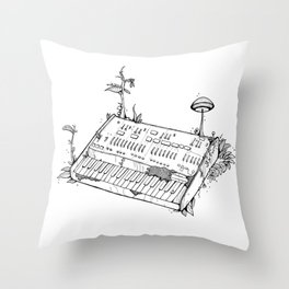 Organic Synth // ARP Odyssey - Black Throw Pillow
