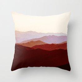 Red mountains. Throw Pillow