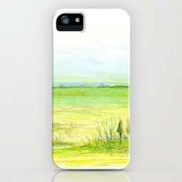 Green meadow iPhone Case