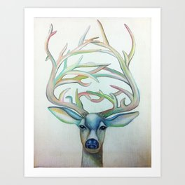 Deer Lord Art Print