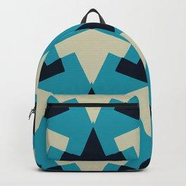 Geometric pattern summer blue invert Backpack