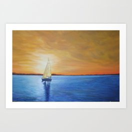 Gilded Sky Sailing Art Print