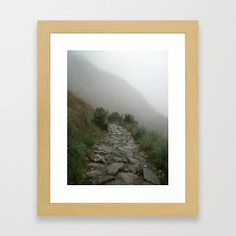 Inca Trail into the mist Framed Art Print