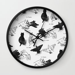 Shadow Puppets Wall Clock
