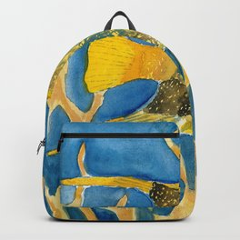 tropical fish square painting Backpack
