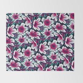 Manuka Floral Print -  Light Throw Blanket