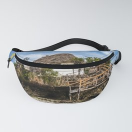 Picturesque house on a tropical coral outcrop Fanny Pack