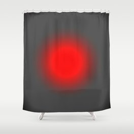 Red & Gray Focus Shower Curtain