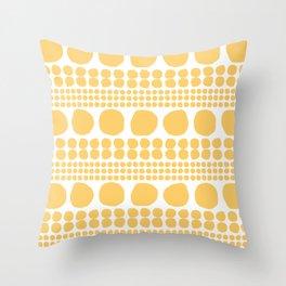 Sten gul Throw Pillow