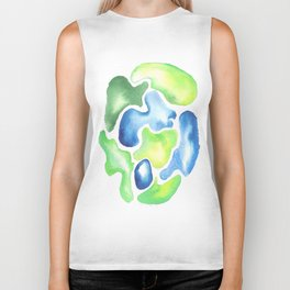170623 Colour Shapes Watercolor 5| Abstract Shapes Drawing | Abstract Shapes Art Biker Tank