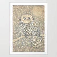 starry night Art Prints featuring Starry Night by Eric Fan