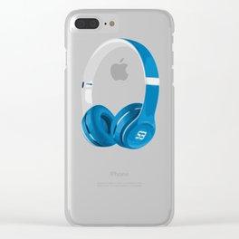Vive la musique - Headphones, by SBDesigns Clear iPhone Case