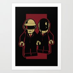 Daft Block Art Print