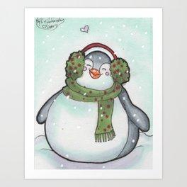 Fat Penguin Art Print