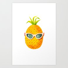 Mrs. Pineapple Art Print
