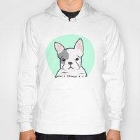 frenchie Hoodies featuring Frenchie by Pati Designs