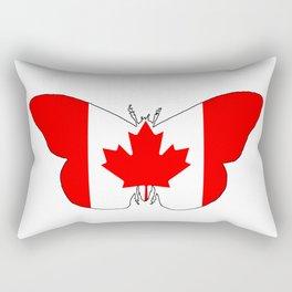 Canada Butterfly Rectangular Pillow