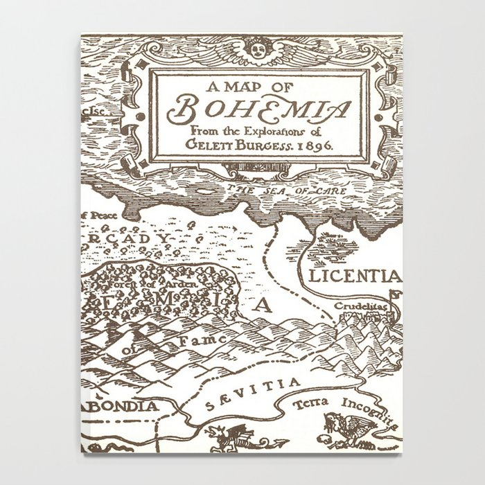 Map of Bohemia Notebook