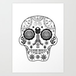 Steampunk Sugar Skull Art Print