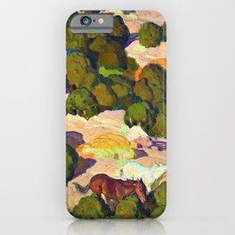 Sunset in the Foothills - William Herbert Dunton iPhone Case
