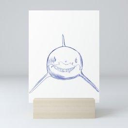 Stroke Shark Mini Art Print