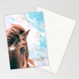 Horse horseshoes Stationery Cards
