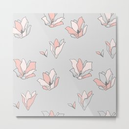 Modern Blossoms Abstract Pattern Metal Print