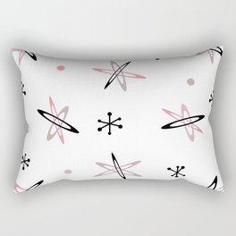 Atomic Era Space Age Pink White Rectangular Pillow