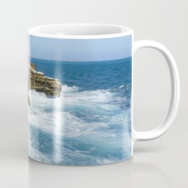 St Lucia rocky shore Coffee Mug