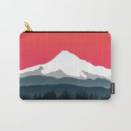 Mount Hood Winter Forest - Sunset Carry-All Pouch
