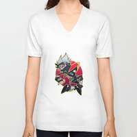 kakashi V-neck T-shirts featuring Kakashibi by Jackce