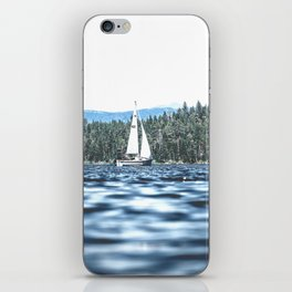 Calm Lake Sailboat iPhone Skin