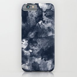 Abstract Navy Watercolor iPhone Case