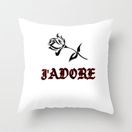 J'Adore Throw Pillow