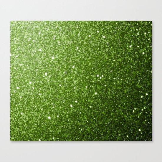Beautiful Greenery Pantone glitter sparkles Canvas Print