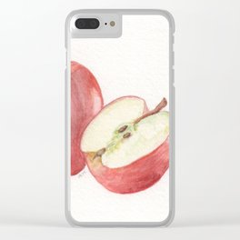 Apple and a Half Clear iPhone Case