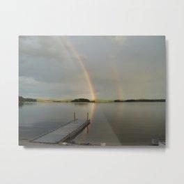 Molasses Pond, Maine - Somewhere Over the Rainbow  Metal Print