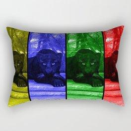 Black panther in colors Rectangular Pillow