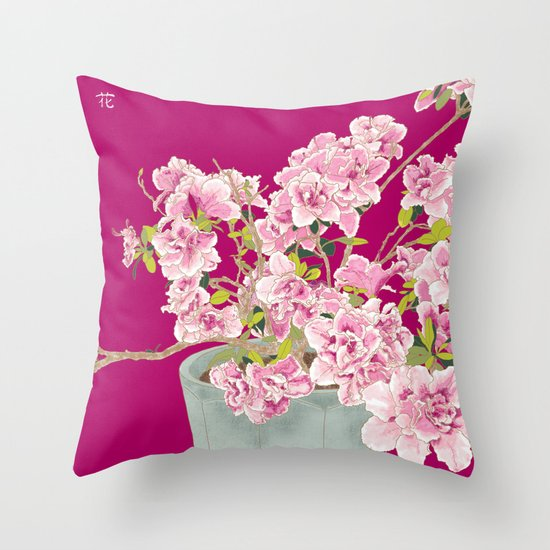 Heavenly Blossom on Pink Throw Pillow