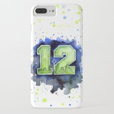 12th Man Seahawks Seattle Go Hawks Art iPhone 7 Plus Slim Case