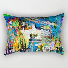 Woman in the city Rectangular Pillow