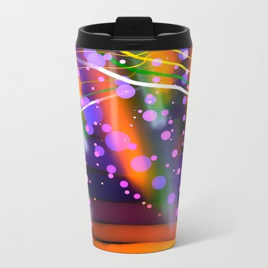 Cheery colourful abstract Metal Travel Mug