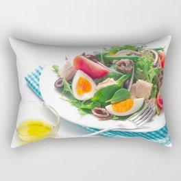 nicoise-style salad Rectangular Pillow